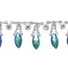 Rhinestone Trim Navette By Yard 15mm Crystal Dorado/silver